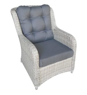 Suns Loungechair Almeria Wicker White Grey