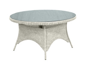 Suns Tuintafel Barcelona 120 cm Rond Wicker White Grey