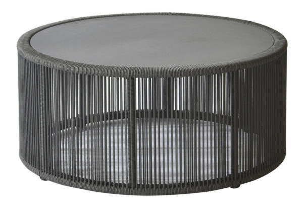Borek Lagos Coffee Table Dark Grey Rope