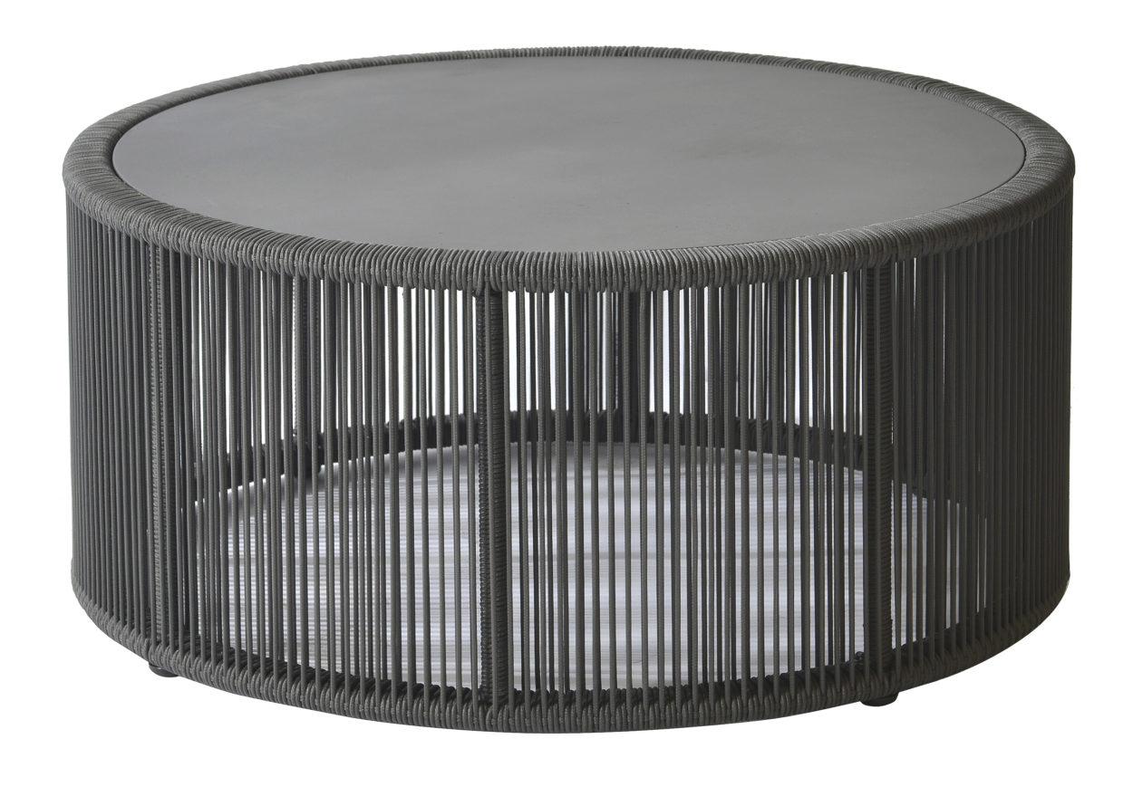 Borek lagos coffee table dark grey rope vivaldi xl