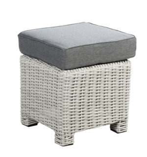 Beach 7 Footstool Birdwood 40x40 cm Multi Grey