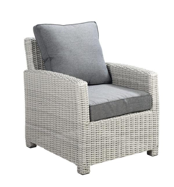 Beach 7 Loungechair Birdwood Multi Grey