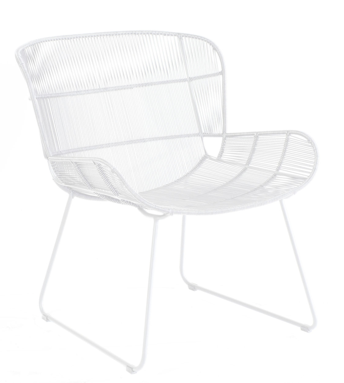 Borek Lounge Chair Faye White By Max en Luuk