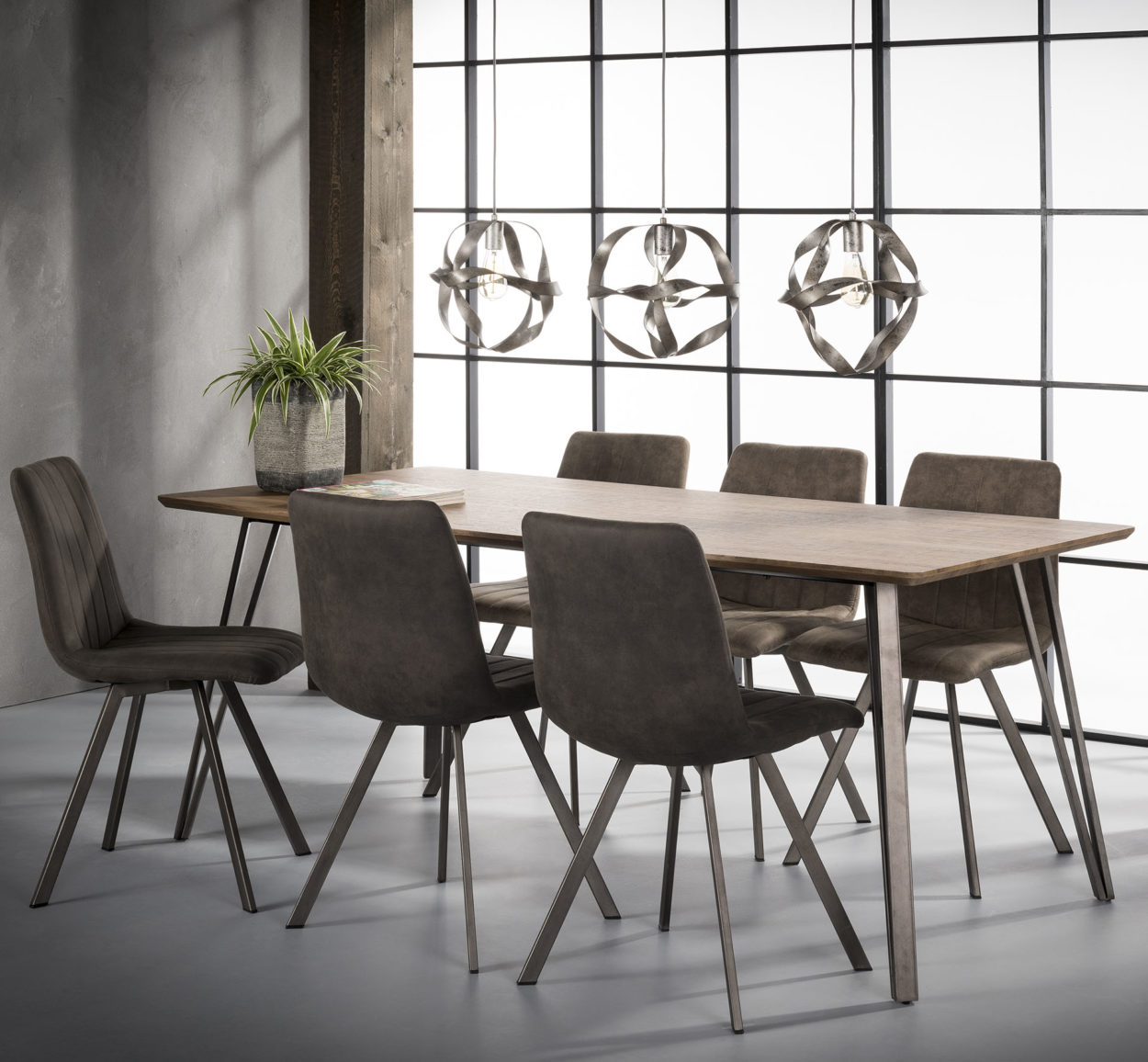 eetkamertafel 160 x 90 cm eiken brownwash vivaldi xl zevenaar. Black Bedroom Furniture Sets. Home Design Ideas