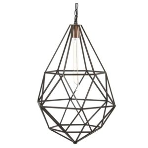 Startup hanglamp zwart en koper