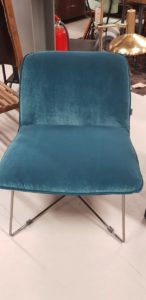 Fly fauteuil petrol blauw showroommodel