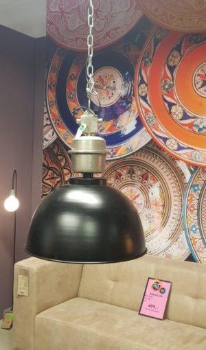 Industriele hanglamp zwart showroommodel
