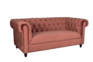 Dutchbone Chester zitbank velvet roze