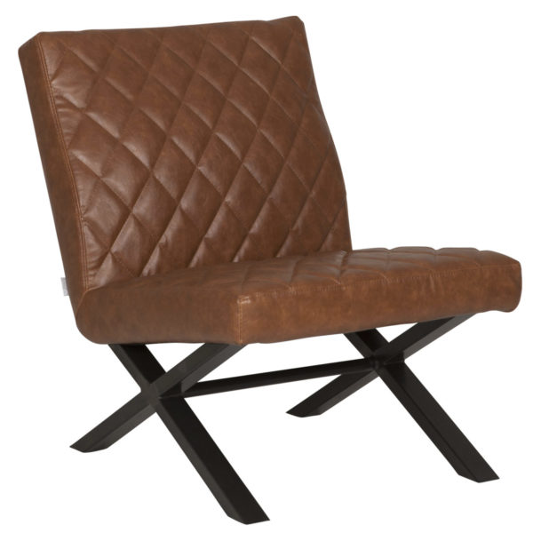 D-Bodhi Fauteuil Alabama Bull Recycled Leather Cognac