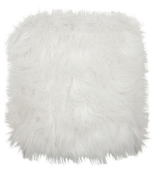 D-Bodhi Stool Poppy Hairy White