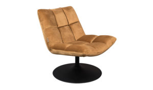 Dutchbone Bar lounge chair velvet golden brown