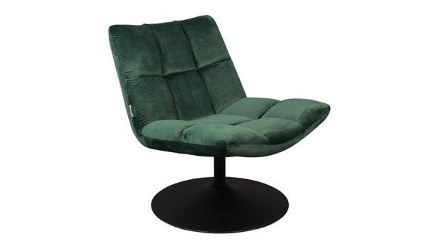 Dutchbone Bar lounge chair velvet green