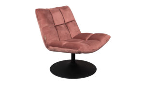 Dutchbone Bar lounge chair velvet pink
