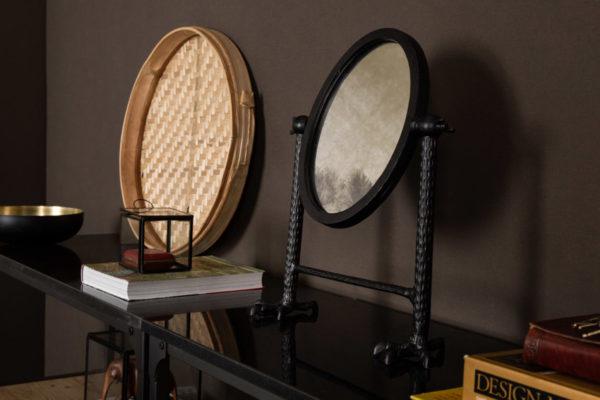 Dutchbone Falcon spiegel zwart sfeer