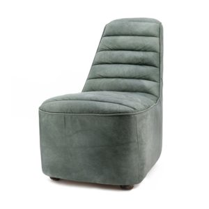 Eleonora Leonardo fauteuil groen vintage leer