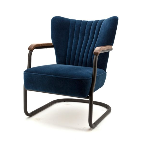 Eleonora Milu fauteuil blauw velours