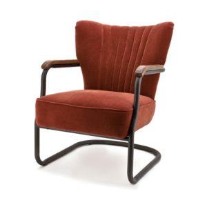 Eleonora Milu fauteuil brique velours