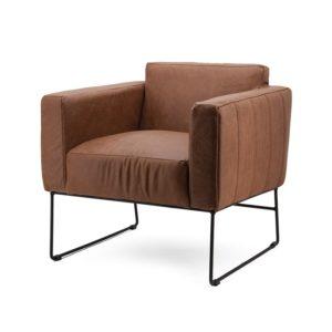 Eleonora Oscar fauteuil cognac botswana