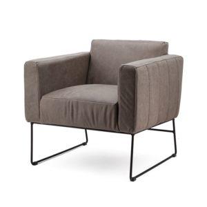 Eleonora Oscar fauteuil taupe botswana