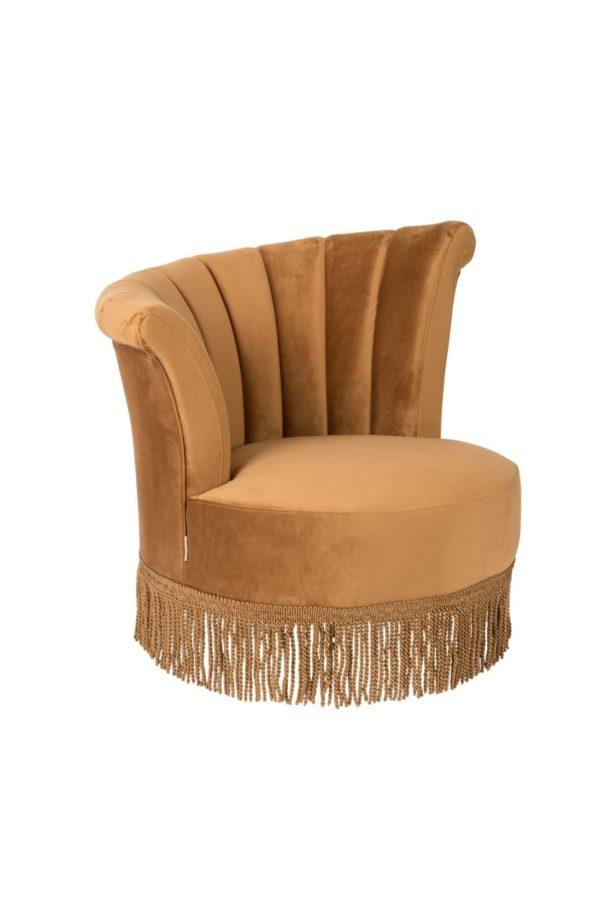 Dutchbone Flair fauteuil goudbruin