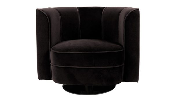 Dutchbone Flower fauteuil zwart