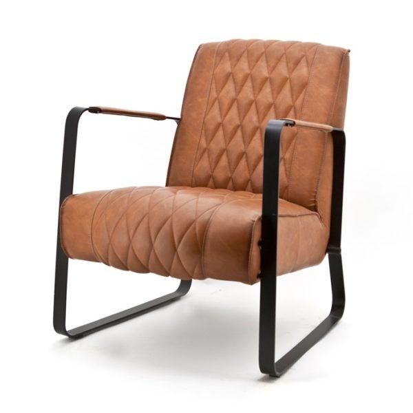 Eleonora Caro fauteuil cognac vintage