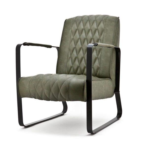 Eleonora Caro fauteuil groen vintage