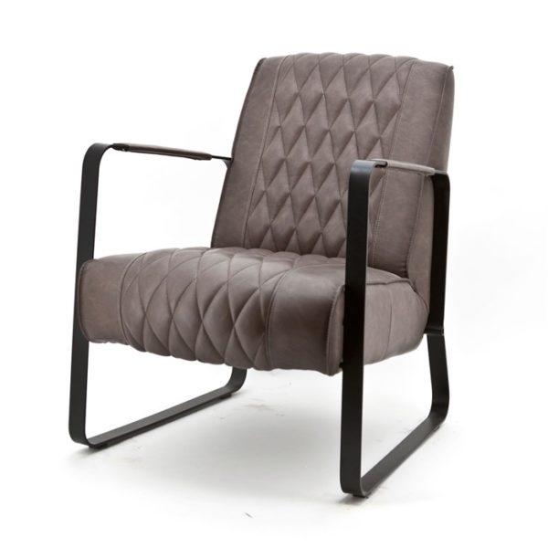 Eleonora Caro fauteuil taupe vintage