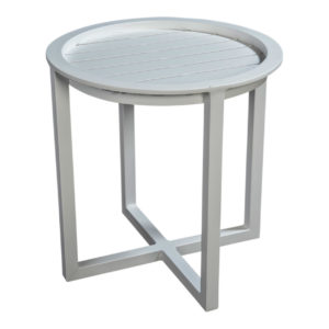 Beach7 Loungetafel Queens 50 cm Rond Alu White