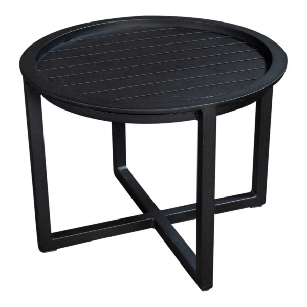 Beach7 Salontafel Queens 60 cm Rond Alu Black