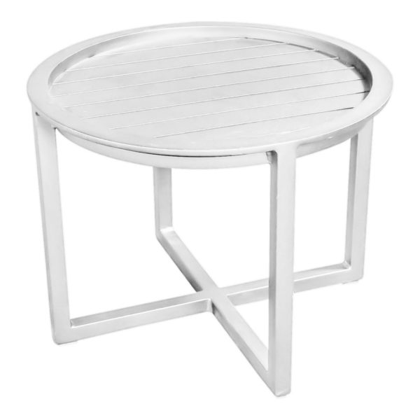Beach7 Salontafel Queens 60 cm Rond Alu White