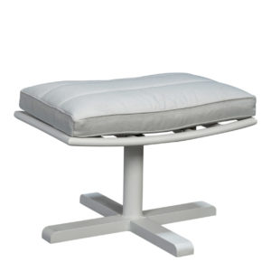 Beach 7 Footstool Papagayo Aluminium White