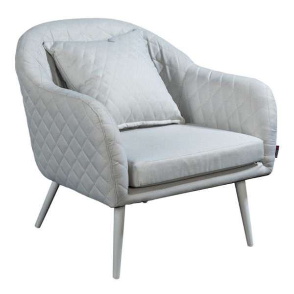 Beach 7 Loungestoel Amante Quilted Marble Grey