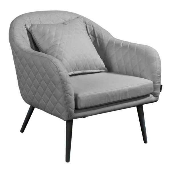 Beach 7 Lounge Tuinstoel Amante Quilted Stone Grey