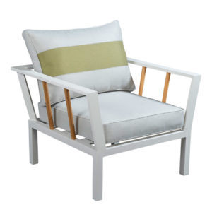 Beach7 Tuinstoel Lounge Central Aluminium Teak