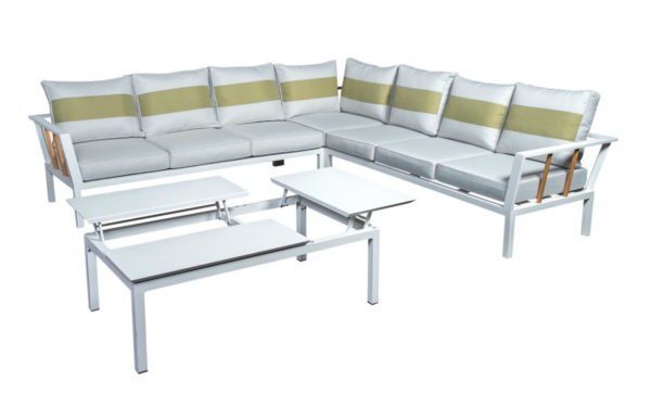 Beach7 Hoek Loungeset Central Aluminium Teak