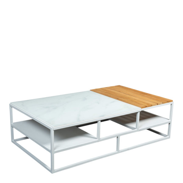 Beach7 Lounge Tuintafel Central Aluminium 140x80 cm