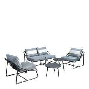 Beach7 Loungeset Bank-Stoel Todt Hill Aluminium