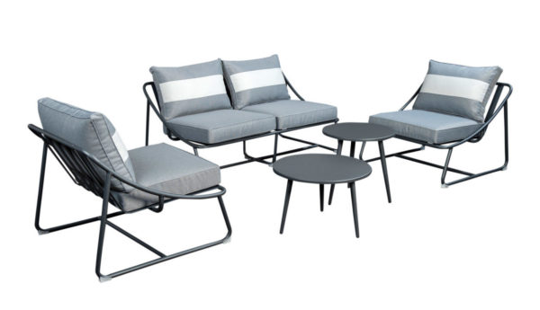 Beach7 Loungeset Bank-Stoel Todt Hill Aluminium