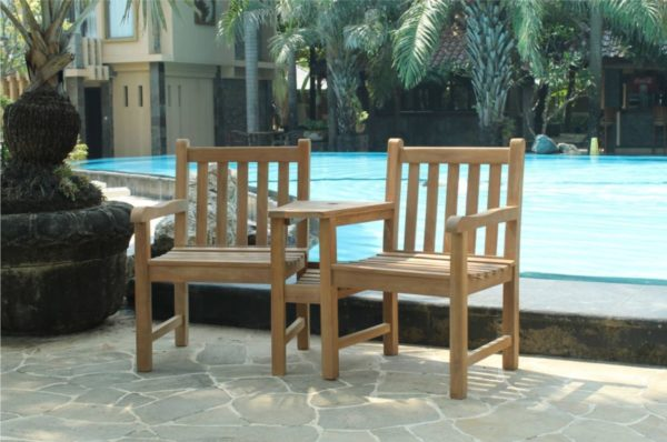 Beach7 Tuinbank Twin Java Armchair Teak