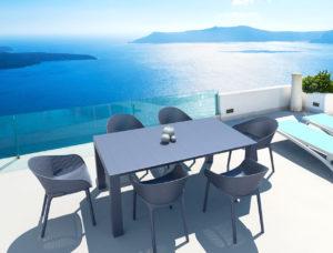 Beach7 Diningset Sky Donkergrijs Vegas 7-Delig