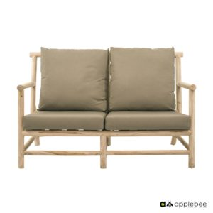 Apple Bee Lounge Tuinbank Rooty Teak 2-Zits