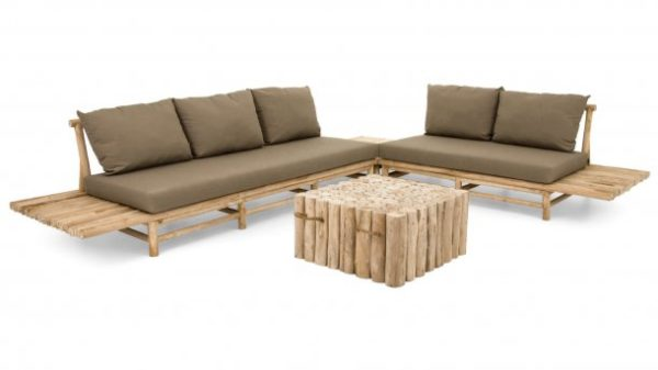 Apple Bee Loungeset Twiggy Teak Rechts Twiggy