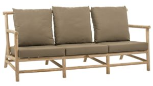 Apple Bee Loungebank Rooty Teak Taupe 3-Zits