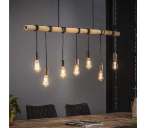 Bamboo wikkel hanglamp 7 lichts