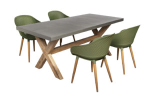 Beach7 Tuinset Antibes 5-delig Olive Green