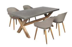Beach7 Diningset Tuin Antibes 5-delig Taupe