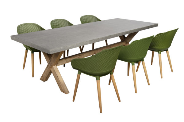 Beach7 Tuinset Antibes 7-delig Olive Green 240