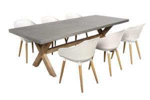 Beach7 Tuin Diningset Antibes 7-delig Wit 240