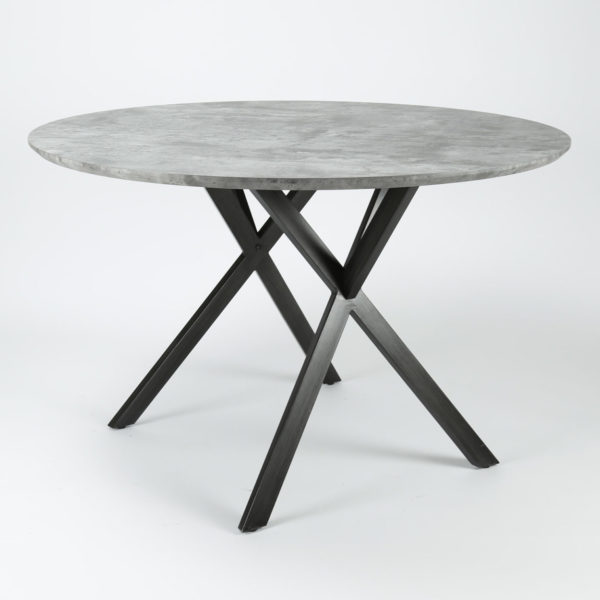 Eetkamertafel rond 120 cm betonlook